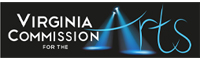 Virginia commision for the arts logo.