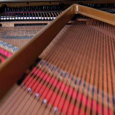 Detail of piano