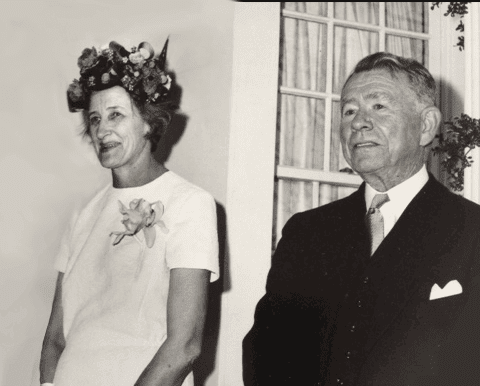 Black and white image of Sarah Stanley Gorden Edwards and Archibald Cason Edwards